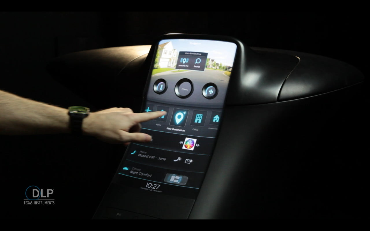 Texas Instruments developing a whole different kind of in-car infotainment with TI DLP technology