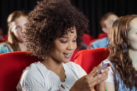 Texting in movie theater