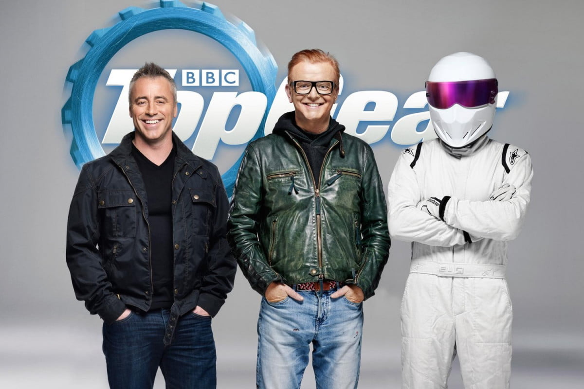 top gear matt leblanc hosts  chris evans the stig