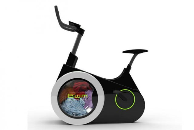 the bike washing machine combines exercise and chores