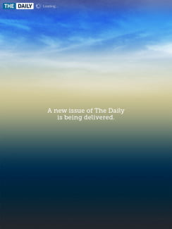 The Daily: New issue screen