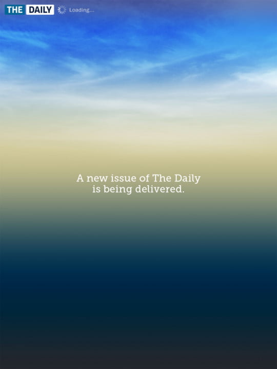 the daily review hands on with first ipad only newspaper  new issue screen