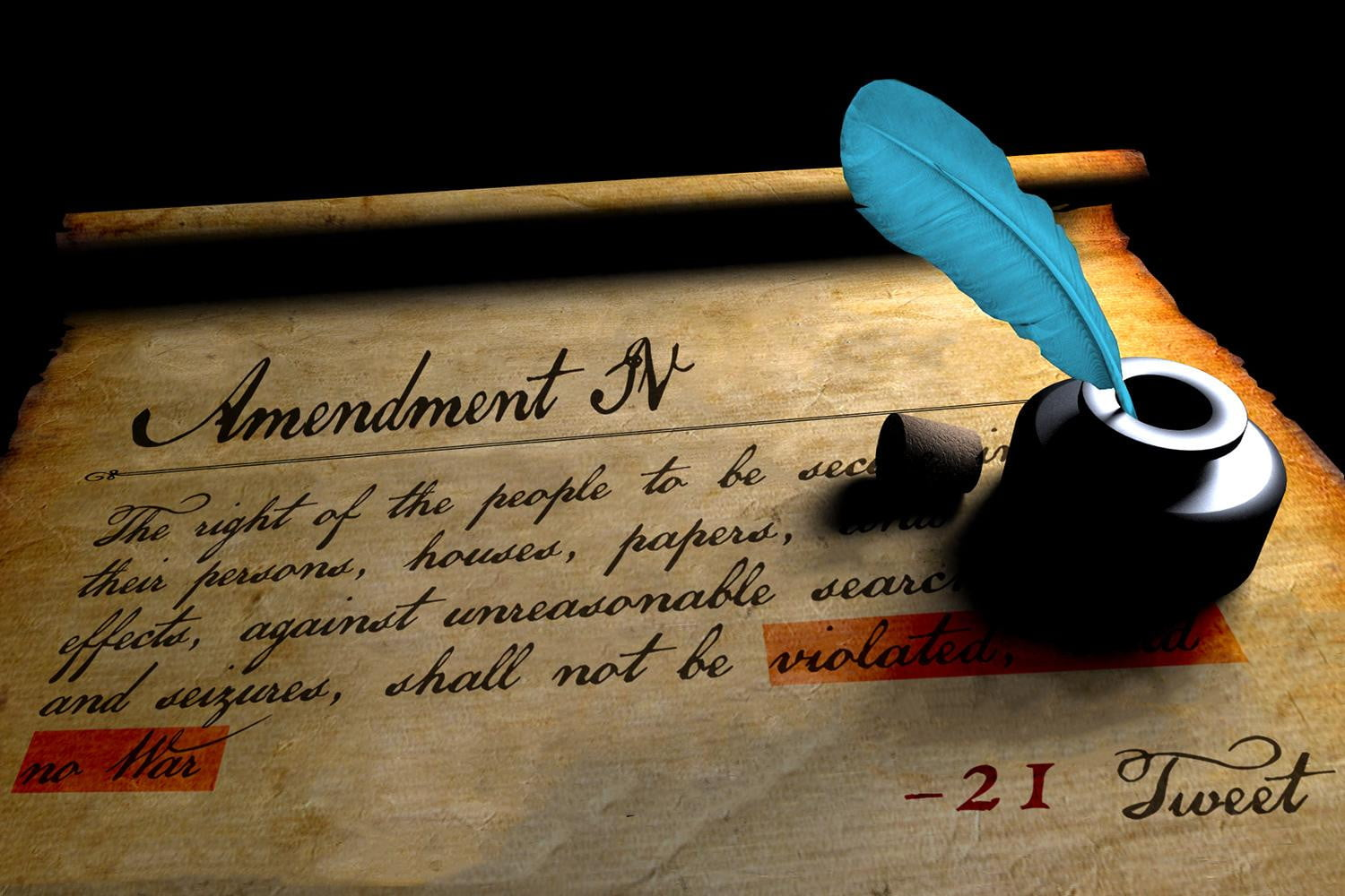 """fourth amendment Our constitutional right under the fourth amendment to live free of """"unreasonable  searches and seizures"""" is one of our most cherished—and most threatened."""