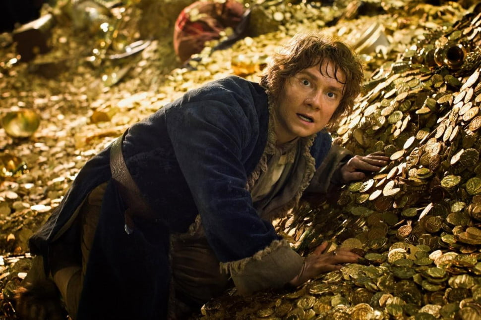 The Hobbit Desolation of Smaug gold pile