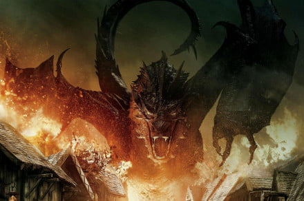 The hobbit five armies Smaug