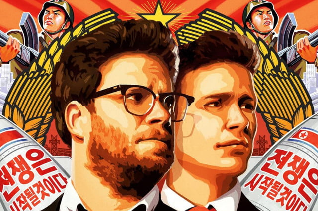 the interview fills theaters and is a hit on torrent sites too