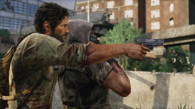 The Last of Us - joel with human shield