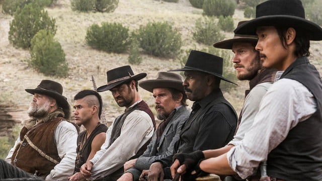 weekend box office the magnificent seven storks