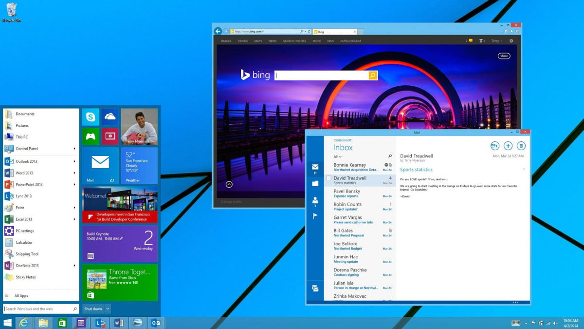 windows  threshold public preview coming late next month early october the new start menu will debut in