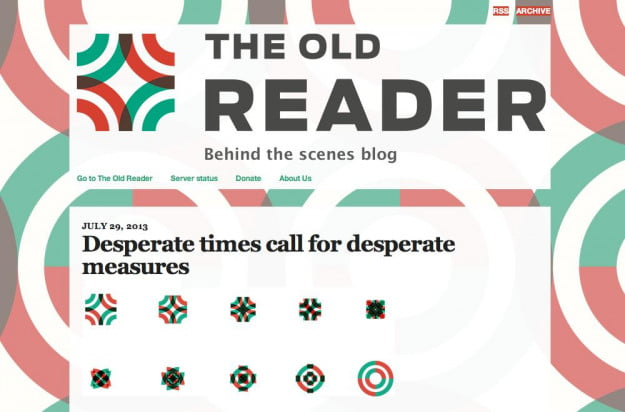 the old reader to close