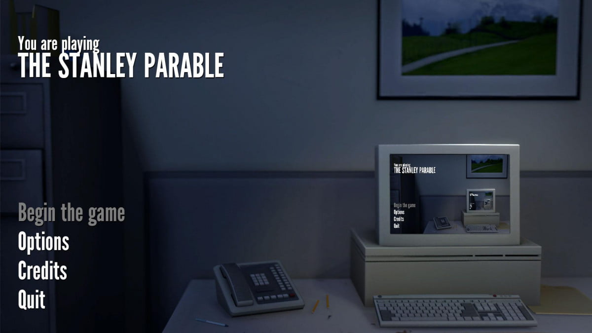 dont read about the stanley parable until you know why shouldnt start screen