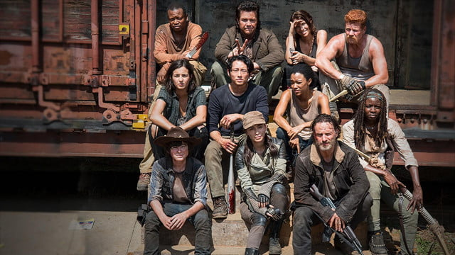 directv dispute with amc results in walking dead held ransom the season  cast shot