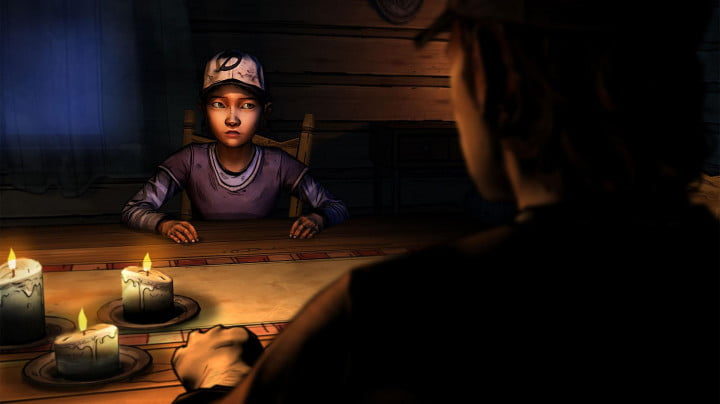 walking dead season two stars clementine launching  the table
