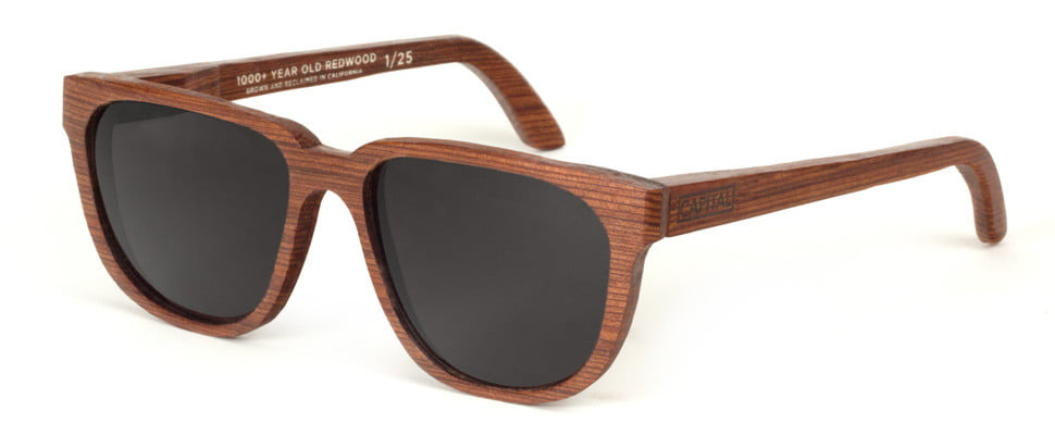 Capital Eyewear Limited Edition Reclaimed Redwood Sunglasses Train Tracks Rare Buy Purchase Cool Eyewear Mens Designer