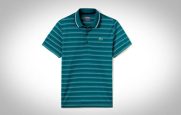 Sport Ultra Dry Jersey Striped Polo by LACOSTE