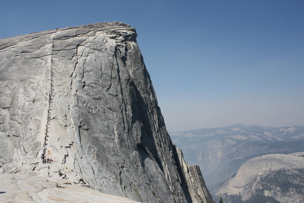 Half Dome Cable Route, Yosemite National Park. Credit: Flickr User Mark Doliner
