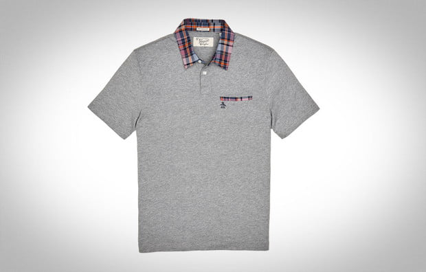 Plaid Patch Pocket Polo by ORIGINAL PENGUIN