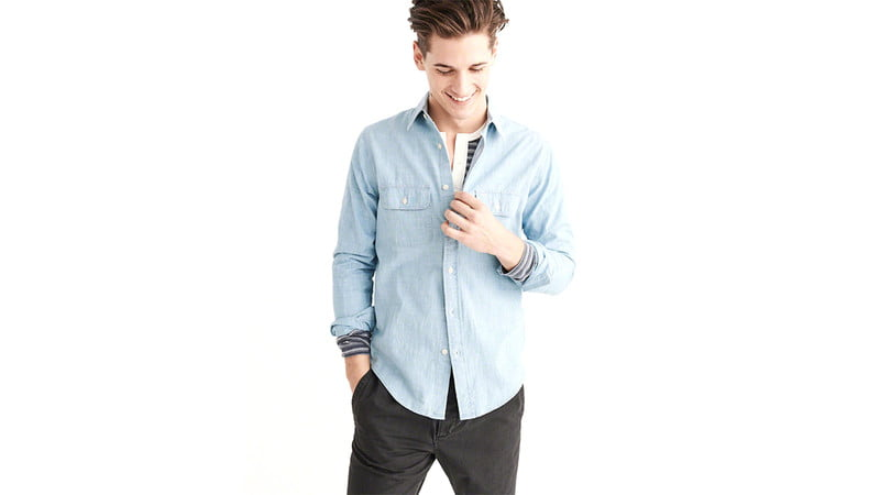 Abercrombie and Fitch Two-Pocket Chambray Shirt
