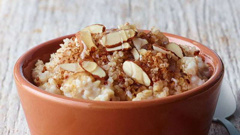 Almond Apple Oatmeal Bowl