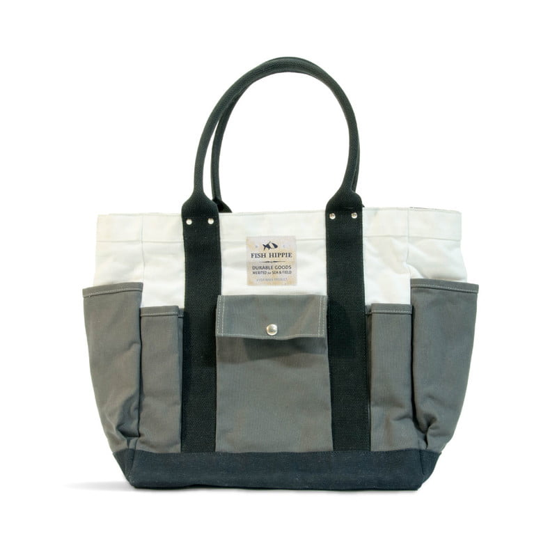 outdoor brand fish hippie debuts new line packs totes bagsphoto field seablackwhitegrey front