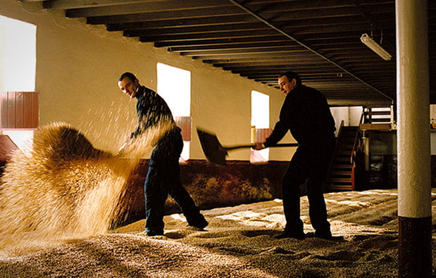 Traditional malting floor toasting