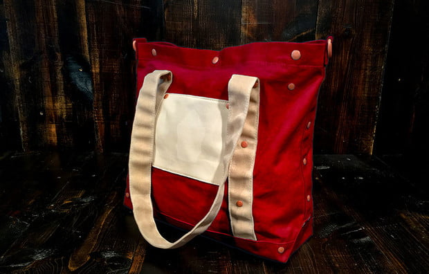 Barking_Irons_Harbor-Tote-Cherry-Red