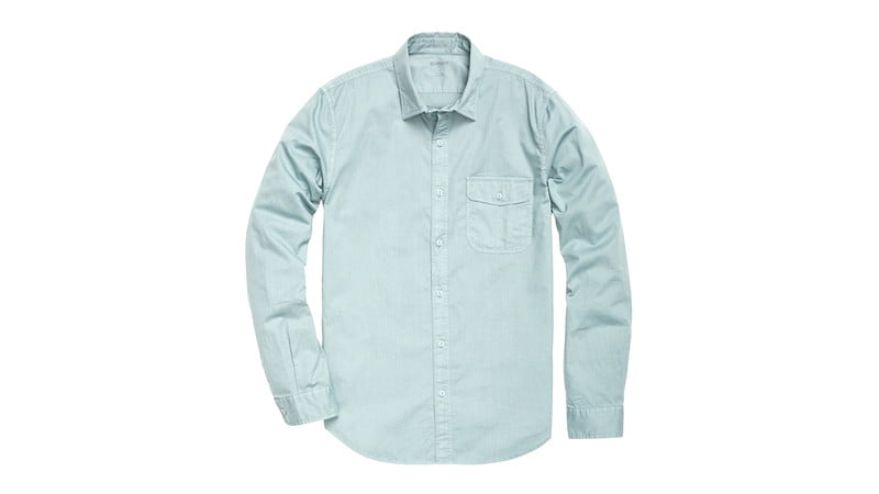 Bonobos Washed Button-down in Washed Green