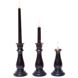 candlestick burned