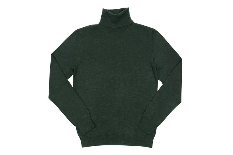 Cashmere/Merino/ Silk Limited Edition Turtleneck Sweater by VK NAGRANI