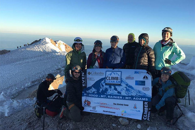 summit climb for clean air initiative
