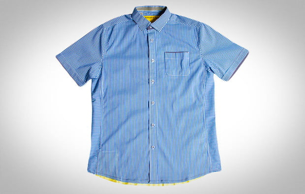 short sleeve button-ups, blue, descendant of theives