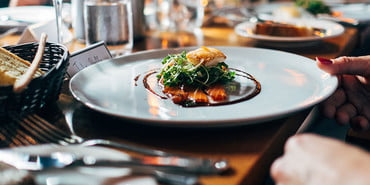 Plated dish at a fancy restaurant, how to eat at a fancy restaurant