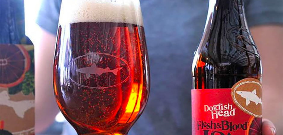 dogfish head, flesh & blood ipa
