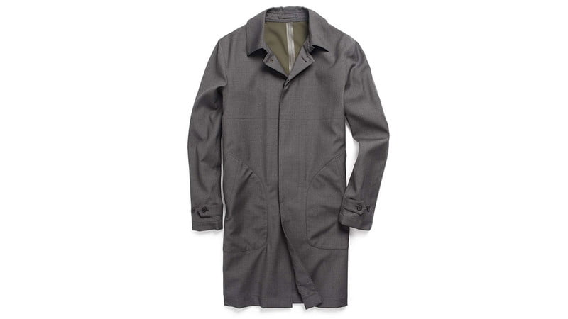 DOUBLE FACE TRENCH IN GREY BY TODD SNYDER