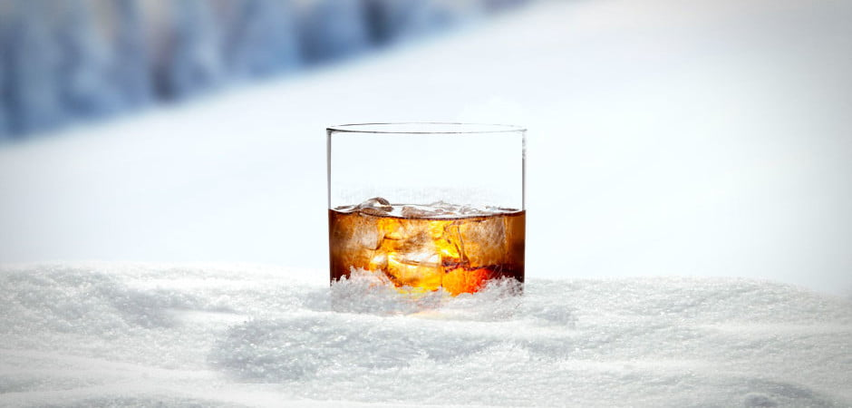 Drink-in-snow