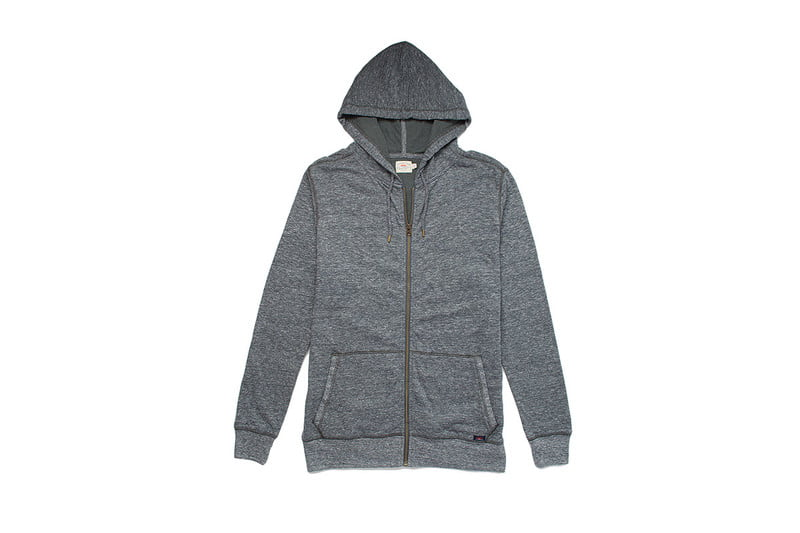 Dual Knit Zip-Up Hoodie by FAHERTY
