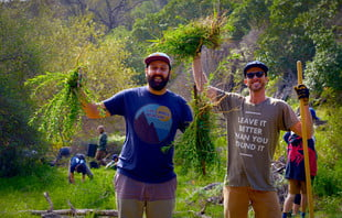 founders of parks project volunteer
