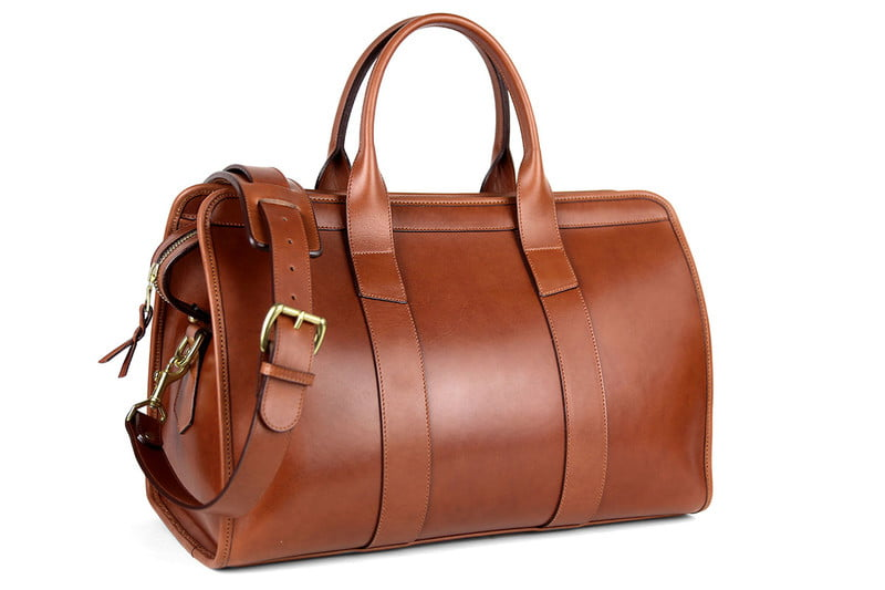 frank and clegg leather small travel duffel