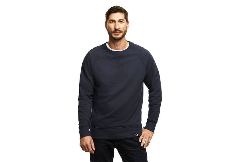 French Terry Crew in Officer's Blue by AMERICAN GIANT