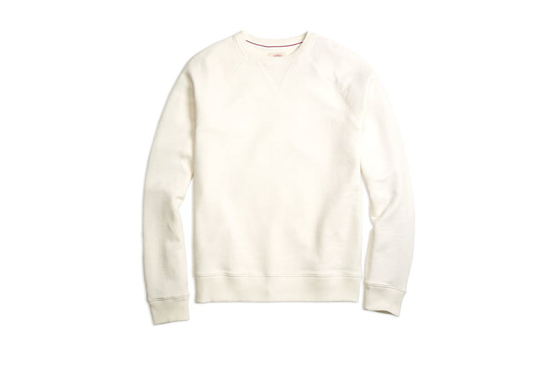 French Terry Raglan Sleeve Sweatshirt by BROOKS BROTHERS RED FLEECE