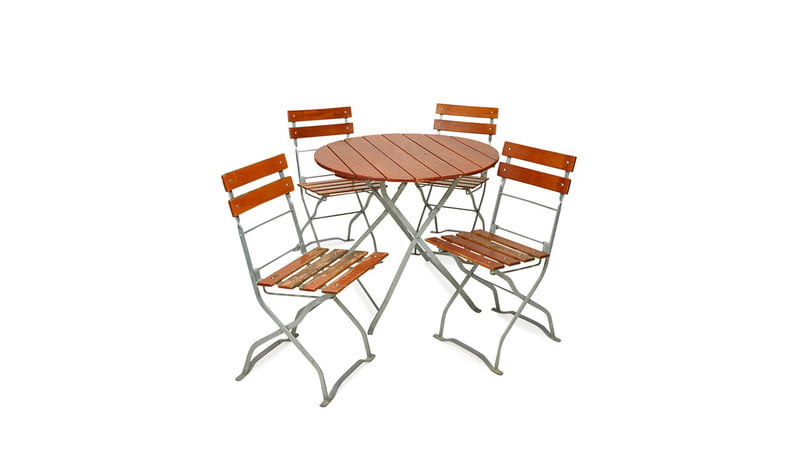 VINTAGE GERMAN BISTRO TABLE AND CHAIRS