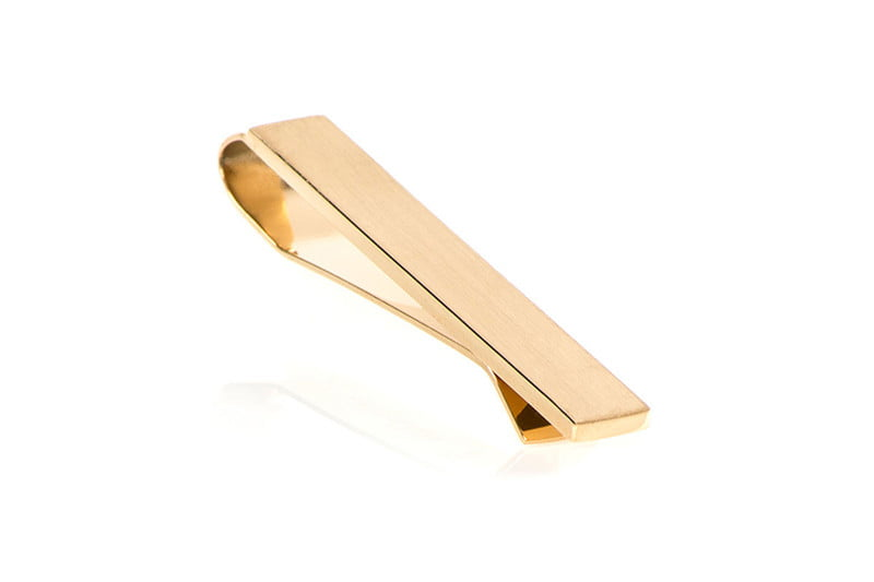 Gold Brushed Tie Bar - $30