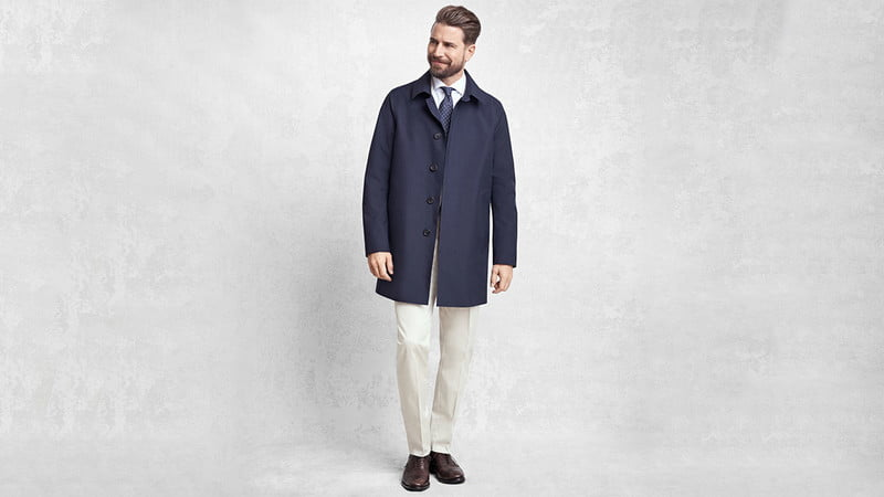 GOLDEN FLEECE LASER CUT SEAMLESS TRENCH BY BROOKS BROTHERS