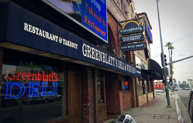 Greenblatt's on sunset pastrami of choice for f. scott fitzgerald and marilyn monroe