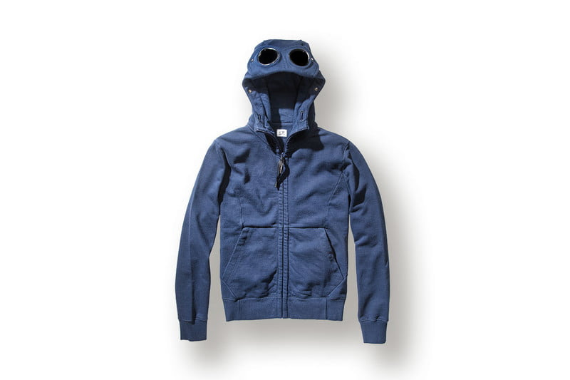Heavyweight Cotton Fleece Goggle Zip Hoodie by C.P. COMPANY