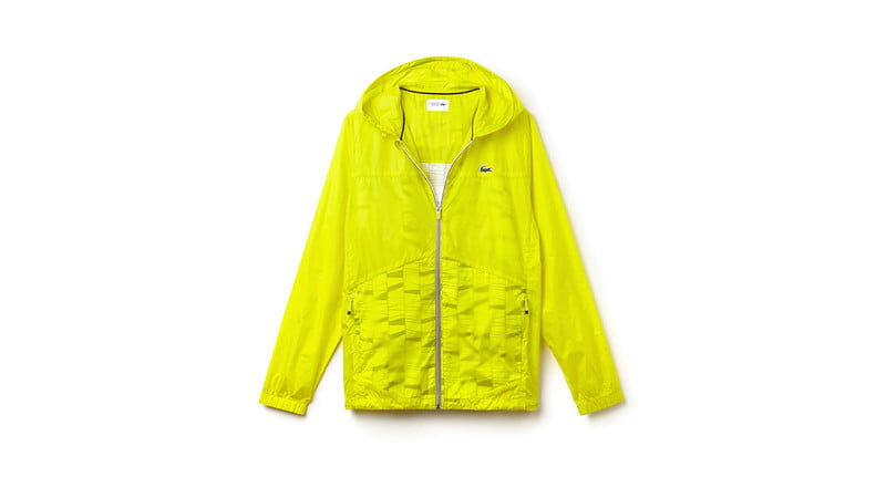 HOODED ZIPPERED TENNIS RAIN JACKET BY LACOSTE