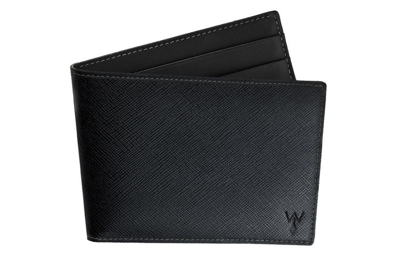 Black Slim Leather RFID Wallet - $75