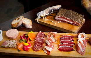 charcuterie board at church and state bistro