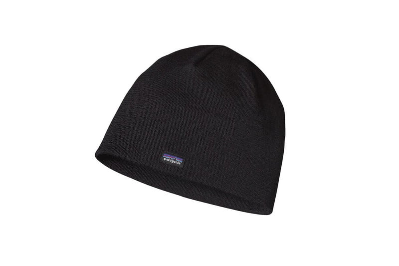 Merino Wool Beanie Hat in Classic Fitz Roy Andes Blue by PATAGONIA