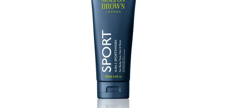 Molton Brown Sport Sportswash 4-in-1 soap shampoo face wash conditioner shave gel luxury designer